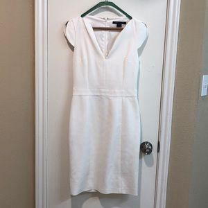Beautiful white sheath dress with cap sleeves